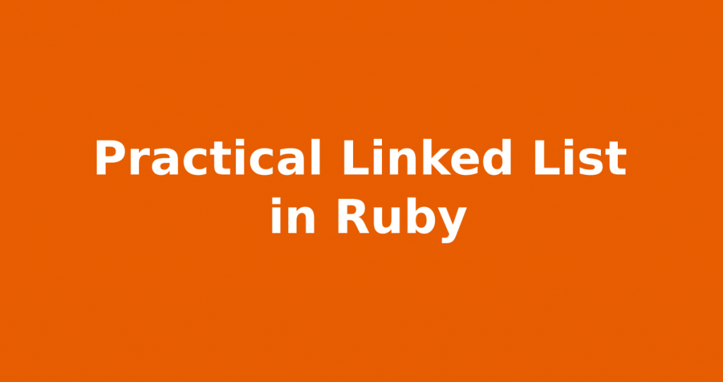 ruby linked list