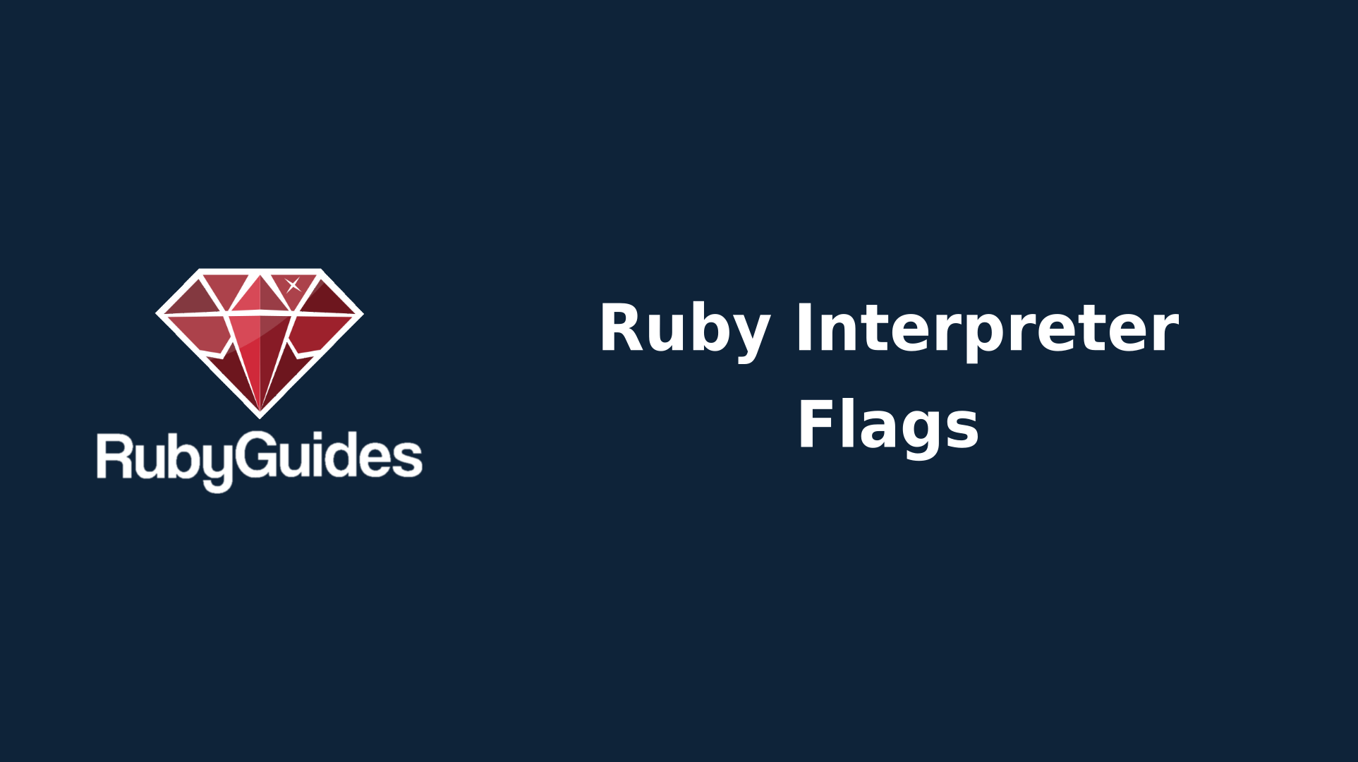 Ruby's Many CLI Option Flags & How To Use Them